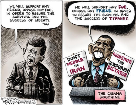 Obama  JFK cartoon